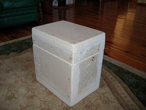 Как сделать пенопластовый ящик своими руками