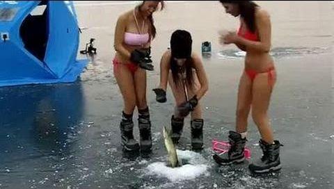 рыбалка и девченки