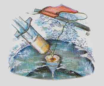 Масляный поплавок в действии